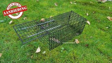 Rattenvangkooi zwart enkeldeurs